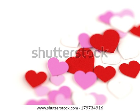 Hearts dof - stock photo