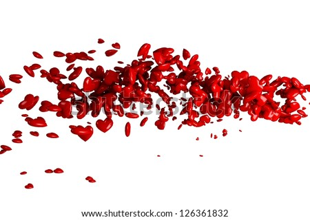 Hearts flow - stock photo