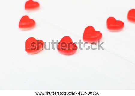 hearts of candy