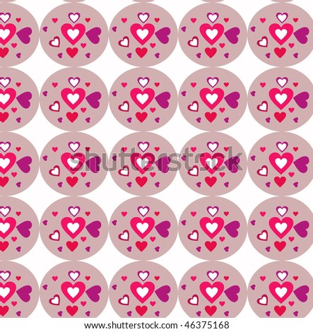 Hearts texture - stock photo