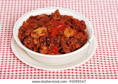 hearty chili - stock photo