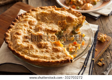 Hearty Homemade Chicken Pot Pie with Peas and Carrots