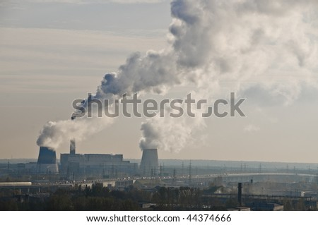 Heat electropower station on the south of Saint-Petersburg - stock photo