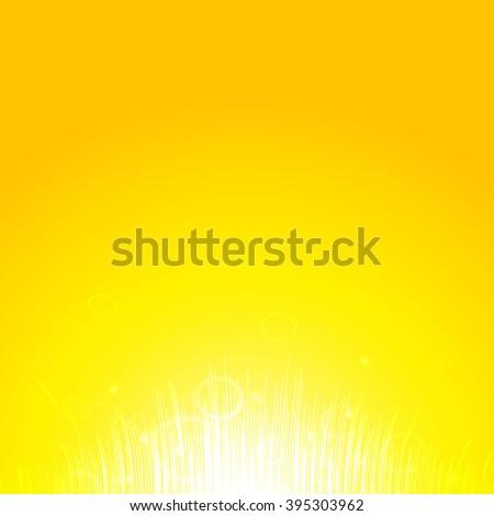 Heat of the sun, Shiny sun, sunbeams, sunrays, bokeh - stock photo