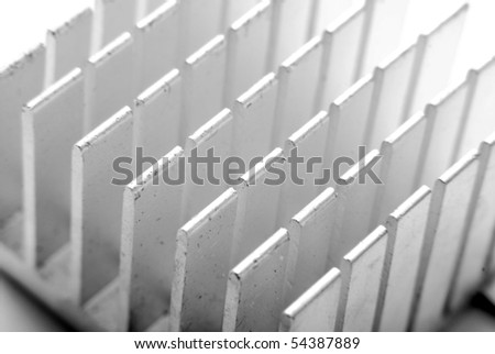 heat sink detail - stock photo