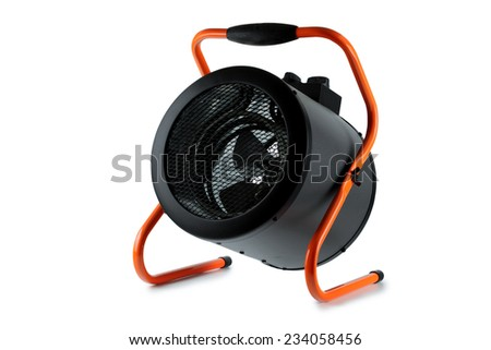 Heater, heat fan, on a white background.