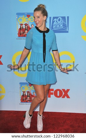 "Heather Morris at the season four premiere of ""Glee"" at Paramount Studios, Hollywood. September 12, 2012  Los Angeles, CA Picture: Paul Smith - stock photo"