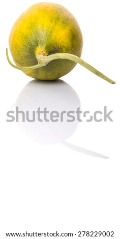 Heaven melon, Malaysian hybrid sweet melon fruit over white background