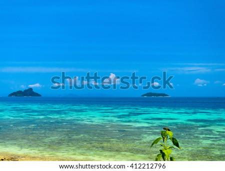 Heaven On Earth Desert Island  - stock photo
