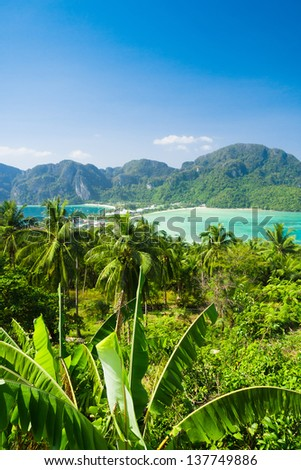Heaven Seascape High Viewpoint - stock photo