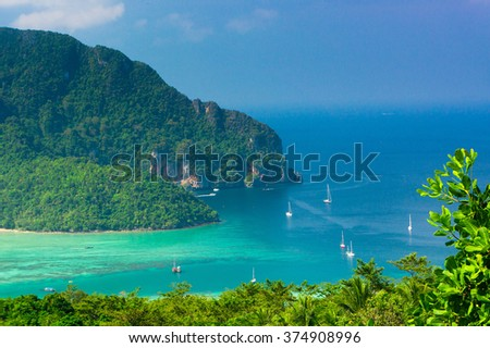Heaven Seascape Vacation Wallpaper  - stock photo