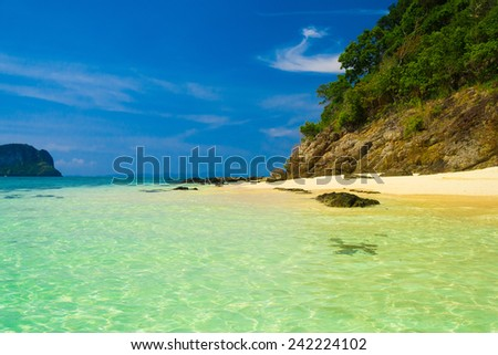 Heavenly Blue Idyllic Scene  - stock photo