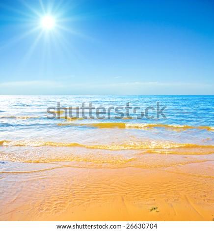 Heavenly coast - stock photo