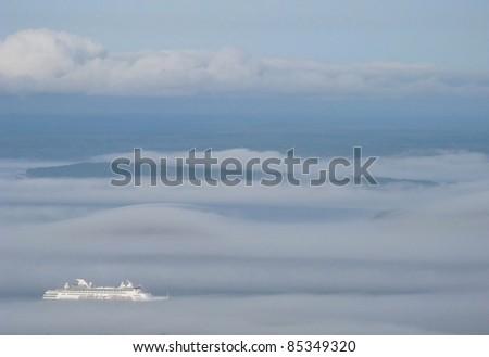 heavenly cruise - stock photo