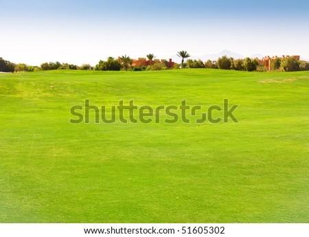 Heavenly Green Fields - stock photo