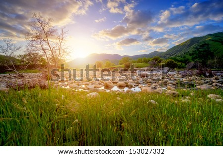 heavenly landscape - stock photo