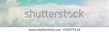 Heavenly Skies pastel background blurred nature. Open new perspectives. Of seeing. Blurry nature summer. Blurred backdrop. Style abstract blurred sunlight. Panorama. - stock photo