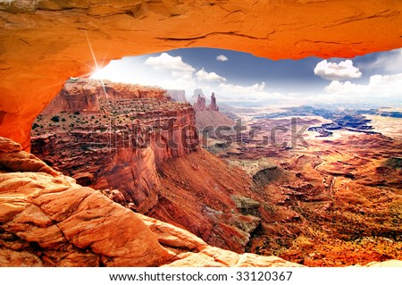 Heavenly view of world - stock photo