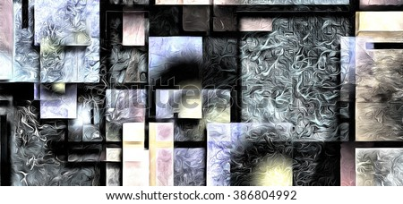 Heavily Textured Digital Abstract Painting - stock photo