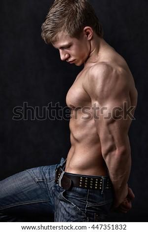Heavy athlete - stock photo