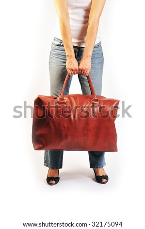 heavy bag - stock photo