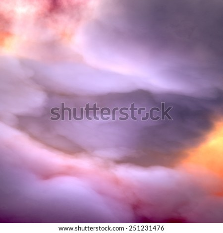 Heavy Clouds, dramatic sky - stock photo