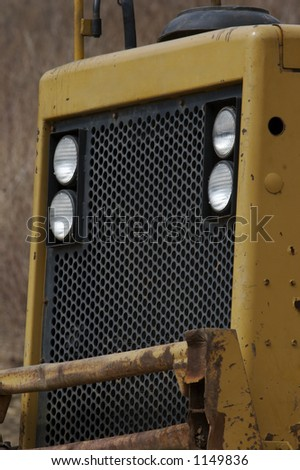 Heavy Construction Equipment Grill - stock photo