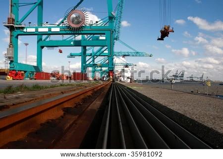 heavy cranes - stock photo