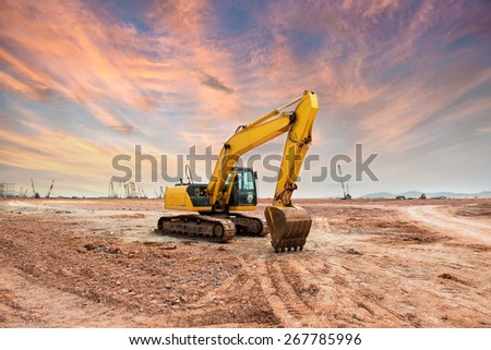 Heavy earth mover - stock photo