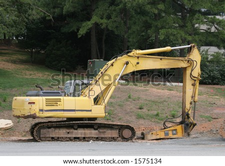 Heavy equipment at job site