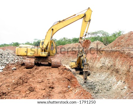 Heavy Equipment Working - stock photo