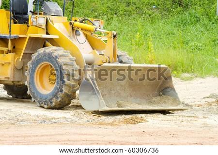 Heavy front loader - stock photo