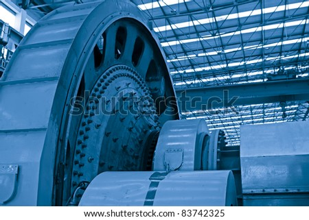 heavy industry production workshop in china - stock photo