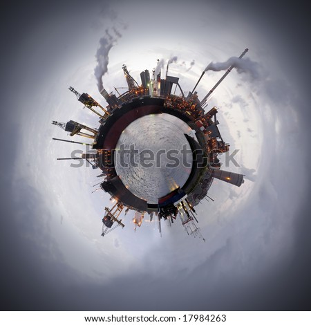 Heavy industry theme. A steel plant is a world apart. Not only because of the processes but also of the resources. That typically applies to all industries that manufacture products from raw materials - stock photo