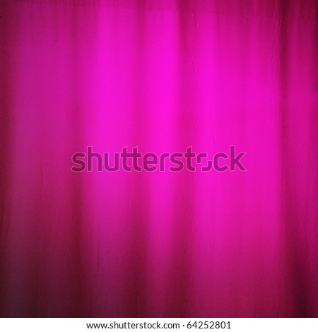 Heavy light pink curtain before the performance - stock photo