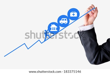 Heavy loans concept - stock photo