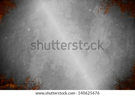 Heavy metal and fire background and banner great for your website or printed material. - stock photo