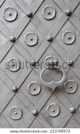 Heavy old door  - stock photo