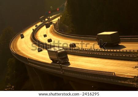 Heavy traffic - stock photo