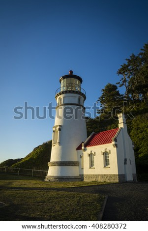 Heceta Head lighthouse on the Oregon coast