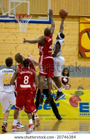 HEIDELBERG, Germany - November 16: Basketball - USC Heidelberg vs. Bayern M�¼nchen, November 16, 2008 in Heidelberg, Germany. - stock photo