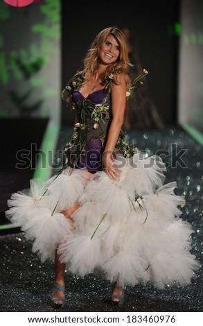 Heidi Klum at fashion show for Victoria's Secret - Fashion Show - Runway, The Armory, New York City, NY November 19, 2009 - stock photo