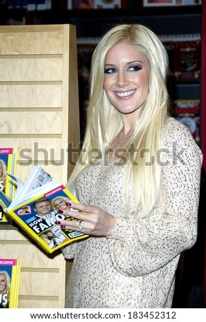 Heidi Montag at in-store appearance for HOW TO BE FAMOUS Book Signing, Borders Book Store at Columbus Circle, New York, NY November 16, 2009