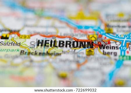 Heilbronn On Map Stock Photo 722699032 Shutterstock