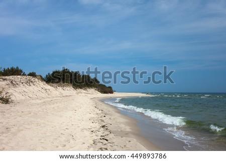Hel Peninsula beach at the Baltic Sea in Poland - stock photo