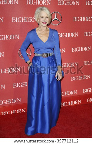 Helen Mirren at the 27th Annual Palm Springs International Film Festival Awards Gala held at the Palm Springs Convention Center in Palm Springs, USA on January 2, 2016. - stock photo