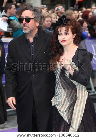 Helena Bonham Carter and Tim Burton arriving for the European Premiere of 'Dark Shadows' at Empire Leicester Square, London. 09/05/2012 Picture by: Alexandra Glen / Featureflash