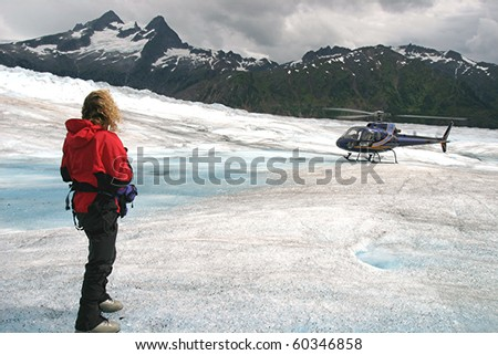 Helicopter Glacier Rendezvous
