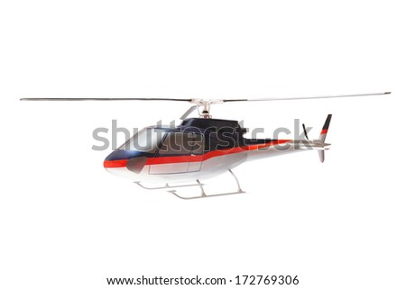 helicopter isolated under the white background - stock photo