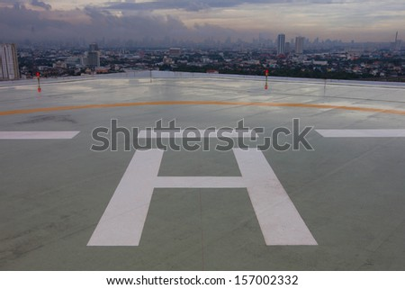 helicopter parking on the roof